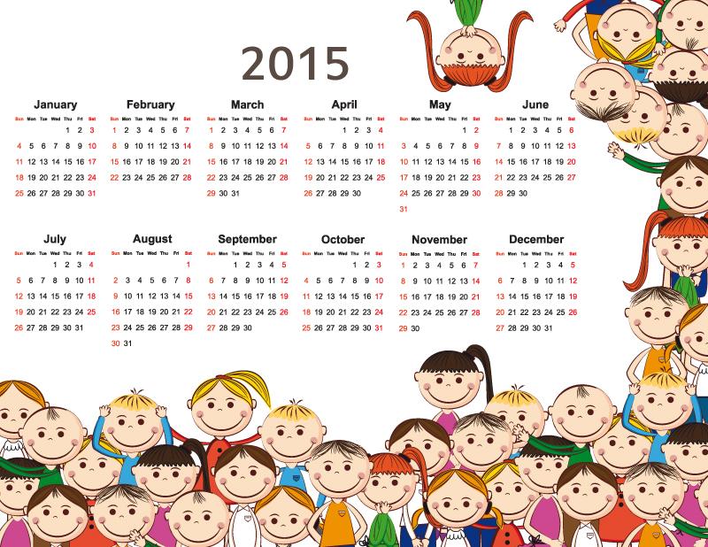 in lịch nam 2015 cho thieu nhi 7