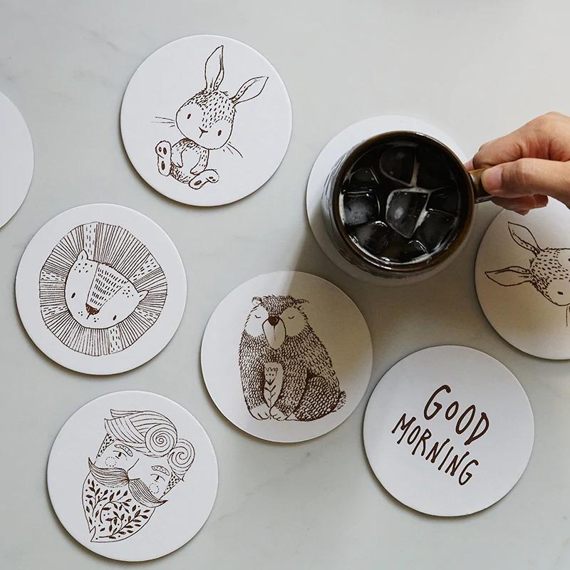 thiết kế và in lót cốc giấy