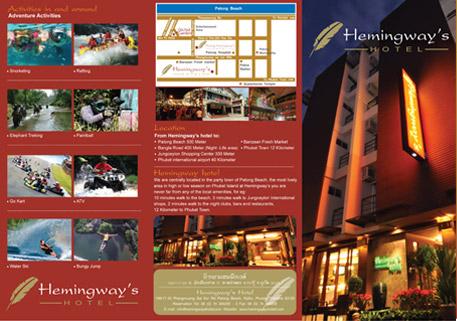 in tờ rơi hemingway hotel