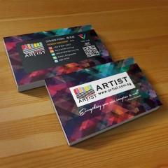 Thiết kế danh thiếp cho nghệ sĩ làm sao nghệ thuật và ấn tượng