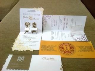Thiệp cưới popup (3D)